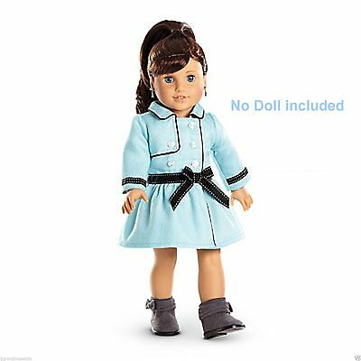 """American Girl Grace Thomas  Travel Coat Outfit for 18"""" Doll NEW in Box"""