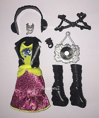 Ever After High Melody Piper Original Doll Outfit Clothes Dress Shoes Headphones