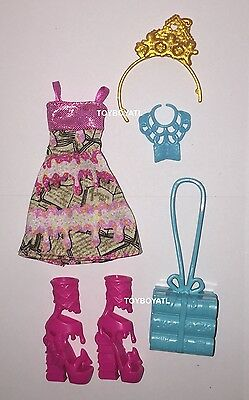 Ever After High Book Party Ginger Breadhouse Doll Outfit Clothes Dress Shoes NEW