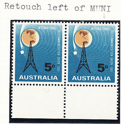 1965 ITU Pair with RETOUCH LEFT OF MUNI* Mint Unhinged