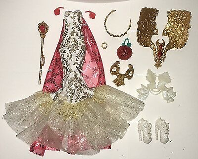Royally Ever After High Apple White Doll Clothes Gown Outfit Dress & Shoes NEW