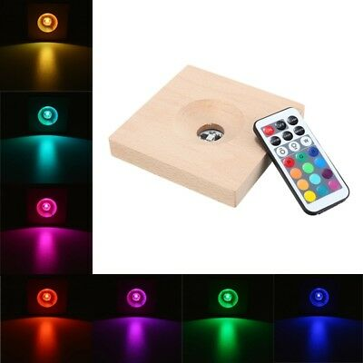 RGB LED Light Base For Weather Forecast Crystal Drops Water Shape Storm Glass