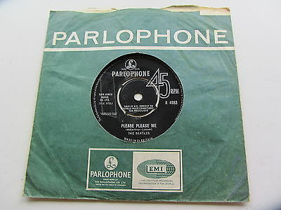 The Beatles 1965  Uk 45 Please Please Me   With Sold In Uk  Text  1965  Pressing