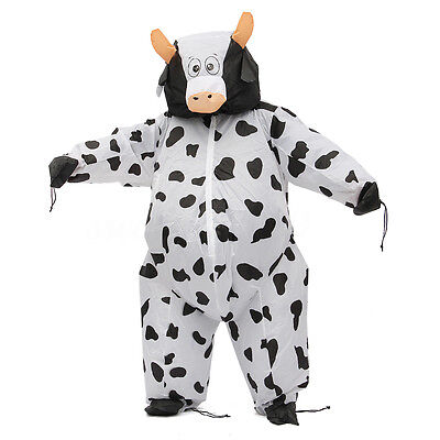 Adult Inflatable Cow Costume Air Blowup Sumo Suit Fancy Dress Party Outfit Suit