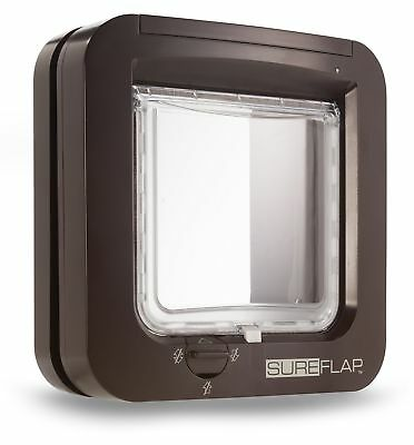 GENUINE Sureflap Microchip Cat Flap Small Dog Big Cats BROWN