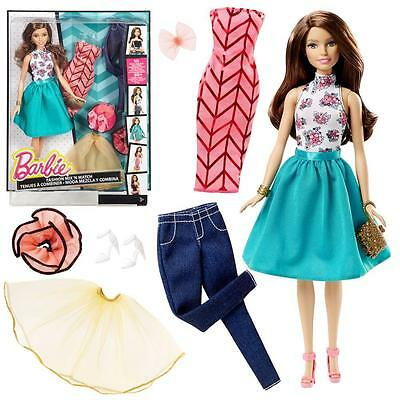 Barbie - Fashion Set with Doll Teresa, Clothing, Shoes and Accessories