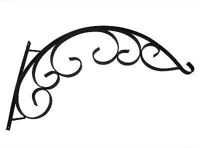 Black Iron Flower Pot Plant Basket Wall Hanging Holder Rack Bracket