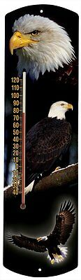 Heritage America by MORCO 375BE Bald Eagle Outdoor or Indoor Thermometer,