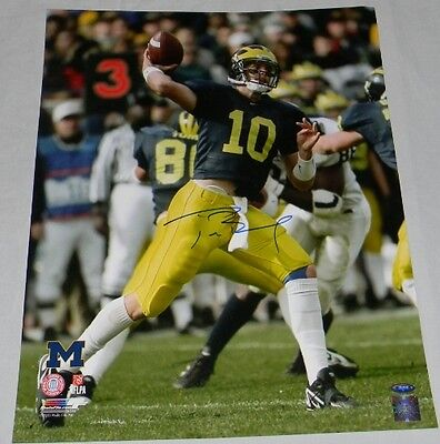 TOM BRADY AUTOGRAPHED SIGNED MICHIGAN WOLVERINES 16x20 PHOTO TRISTAR
