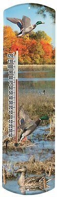 Heritage America by MORCO 375MALD Mallard Duck Outdoor or Indoor Thermometer,