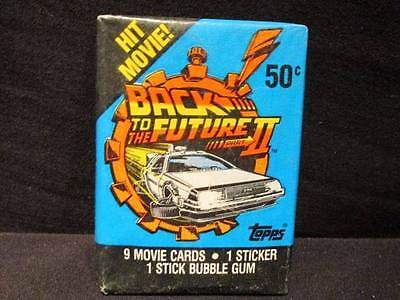 Back to the Future II Topps 6 New Packages 9 Movie Cards 1 Sticker 1 Stick Gum