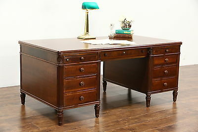 Stow Davis Signed 1950's Vintage Walnut Library Executive Desk