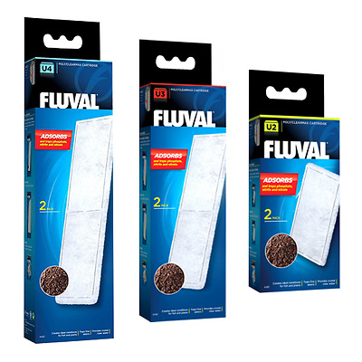 Fluval Poly Clearmax Cartridges - 2 Replacement Pieces for U2 U3 & U4 Filters