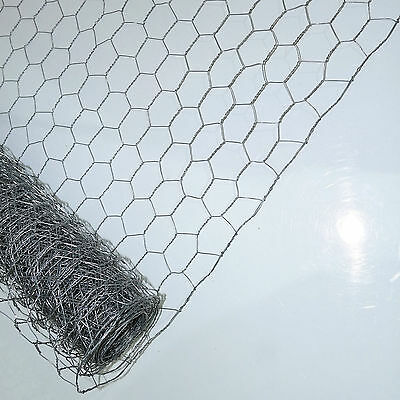 5m x 50mm 600m Galvanised Garden Netting Chicken Rabbit Wire Mesh m
