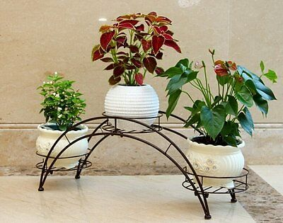 Plant Rack,AISHN Elegant Arch Design Black Metal Plant Stand/Flower Pots Shelf /