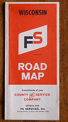 1963 Wisconsin  road map FS Services  oil gas oil