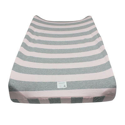 Burt's Bees Baby Wide Stripe Blossom Changing Pad Cover