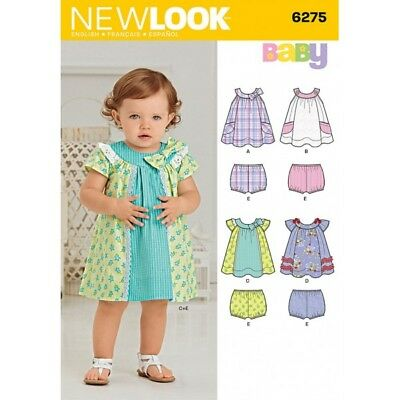 New Look Babies' Dress and Panties Sewing Pattern 6275