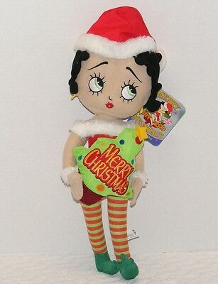 "NWT 2013 BETTY BOOP MERRY MESSAGES 20"" SUGAR LOAF Christmas Doll"