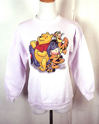 vtg Pooh Disney youth Tigger Eeyore Sweatshirt youth L adult XS