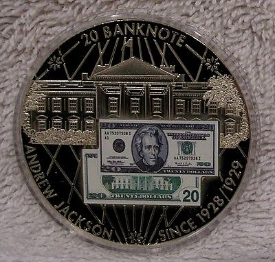 $20 Banknote of the USA - Large 50mm  Medal Token Medallion by American Mint