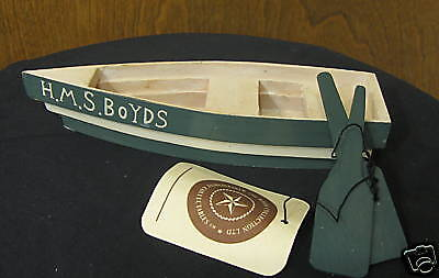 """Boyds Accessories #654732 BOAT, 7"""" long with oars NEW from our Retail Store"""
