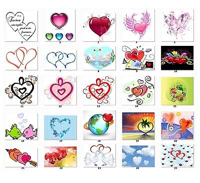 30 Personalized Hearts Return Address Labels Buy 3 Get 1 free (HES2)