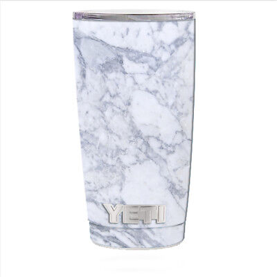 bc028a7ae0e Skin Decal for Yeti 20 oz Rambler Tumbler Can Cup / Grey White Standard  Marble