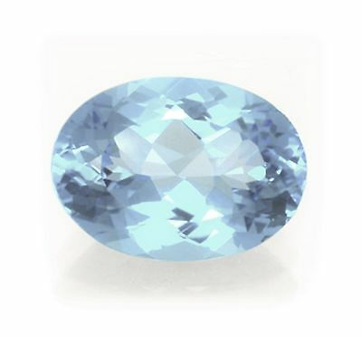 Natural Sky Blue Topaz 18mm x 9mm Oval Cut Gem Gemstone