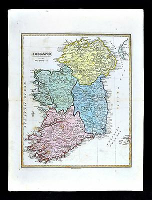 1839 Allan Bell Atlas Map - Ireland - Dublin Munster Leinster Ultser Connaught
