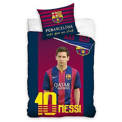 Fc Barcelona Lionel Messi Single Duvet Cover & Pillowcase Set New