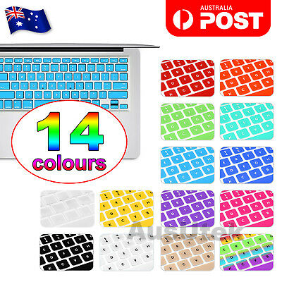 "Colored Soft Keyboard Case Cover Protector For Apple Macbook Air Pro 13.3"" 15.4"""