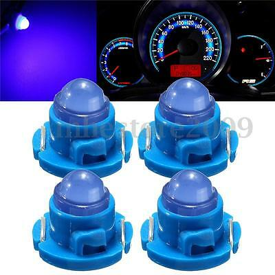 4x T5/T4.7 Neo Wedge LED Bulb Dash Climate Control Cluster Instrument Light Blue