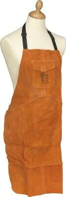 Sealey Cow Hide Leather Welding Apron Traditional Protective Gear | Heavy-Duty