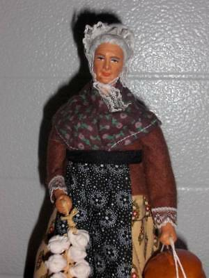 """Marius Chave Aubagne ~ Vintage Clay 9"""" French Peasant Doll"""