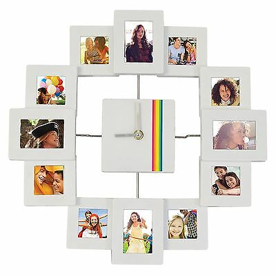 Polaroid 12 Picture Photo Frame Wall Clock
