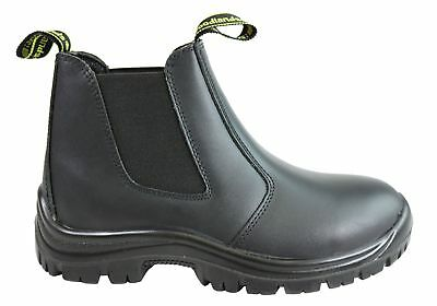 New Woodlands Handyman Womens Leather Pull On Work Boots