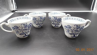 J G Meakin Blue Nordic Set Of 4 Ironstone Cups