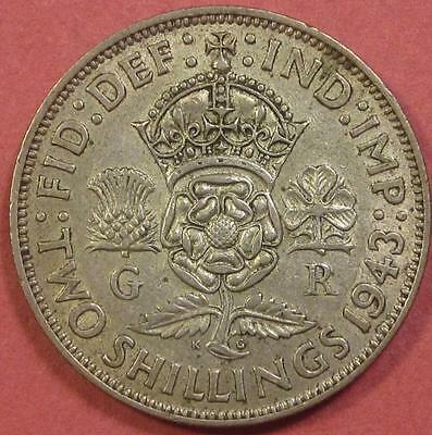 Great Britain Florin 1943 Xf/silver <>Br815
