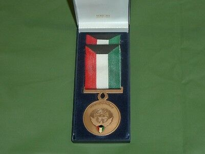 Boxed Liberation Of Kuwait Service Medal