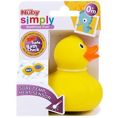 NUBY Bath Thermometer Safe Duck Heat Sensor Changes Colour When Hot Baby Newborn