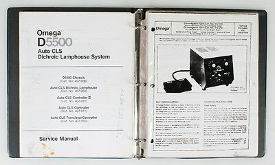Omega D5500 Service Manual And Omega Parts Lists