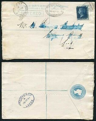 RF5 QV 2d Registered Envelope size G dated 18.12.80 uprated with 2d Blue