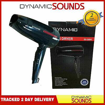 Dynamic Small Travel  Multi Voltage Folding Hair Dryer with Cool Shot, 2 Speed