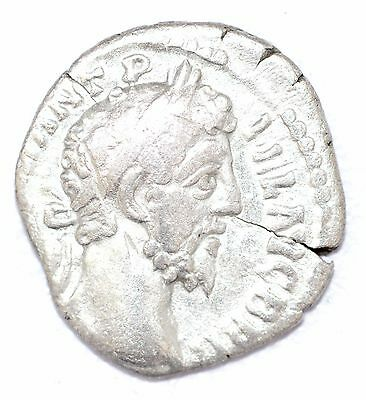 AUTHENTIC COMMODUS ROMAN COIN , AR Silver Denarius -  rev. Genius - A838