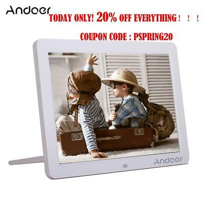 "Andoer 12""inch HD LED Digital Photo Picture Frame Movie Player Remote Control"