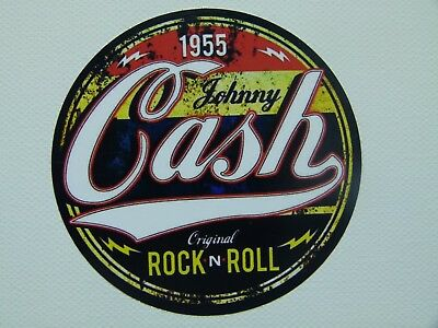 V8 Oldschool Aufkleber Johnny Cash Rockabilly Vintage Sticker Rock n Roll USA