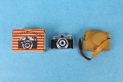 Vintage Crystar Japan Miniature Spy Camera Mint In Box With Case