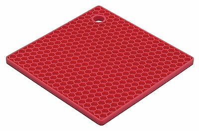 HIC Brands that Cook The Essentials Cherry Honeycomb Silicone Trivet 7-Inch Red