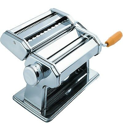 OxGord KAPM-01 Stainless Steel Fresh Pasta Maker and Roller Machine